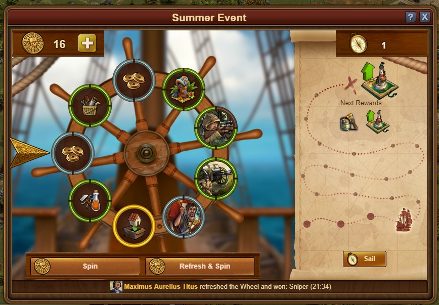 Brujula evento de verano forge of empires