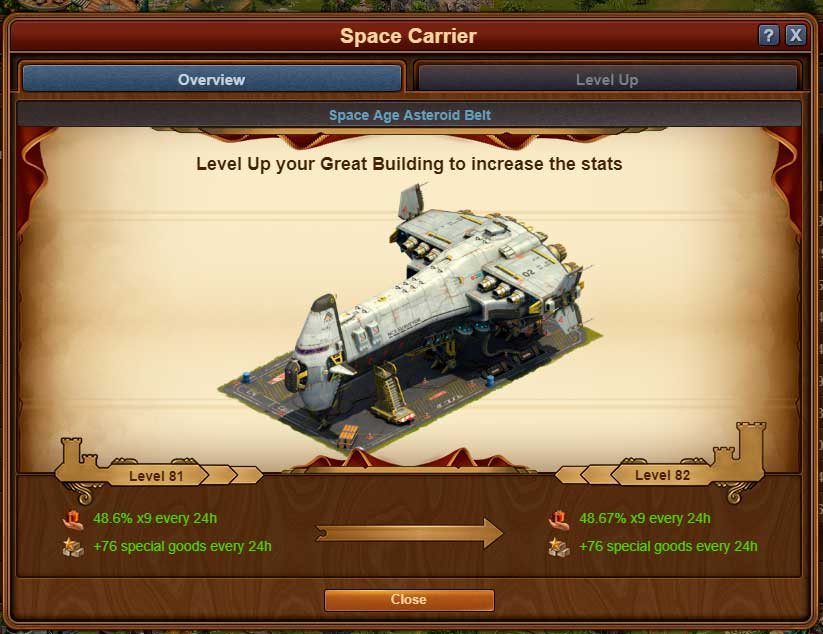 Space Carrier forge of empires